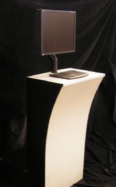 rent computer kiosk for tradeshows, games, cyber-cafes, self registration